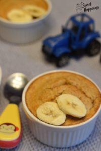 Gebackenen Bananen-Haferbrei